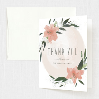 Floral Burst Confirmation Thank You Cards