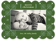Evening Snowflakes Christmas Photo Cards