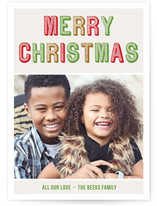 Merry Typography Christmas Photo Cards