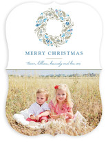 Trimmed Wreath Christmas Photo Cards