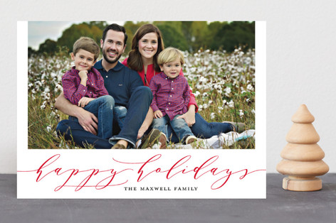 Timeless Charm Christmas Photo Cards