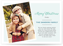 Holiday Letter Christmas Photo Cards
