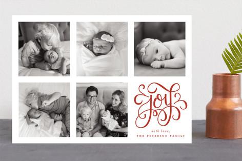 Curly Joy Christmas Photo Cards