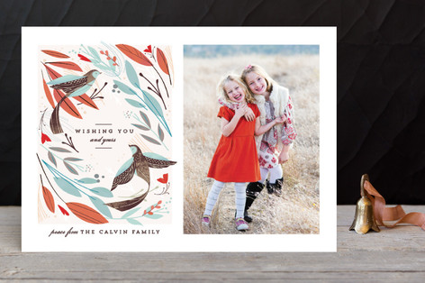 Winter Birds Christmas Photo Cards