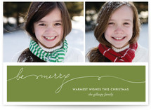 Be Merry Handwriting Christmas Photo Cards