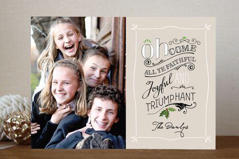 All Ye Faithful Christmas Photo Cards