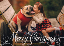 Classic Merry Christmas Photo Cards By Alston Wise