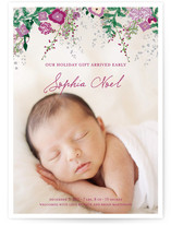 Fleurs De Noel Christmas Photo Cards