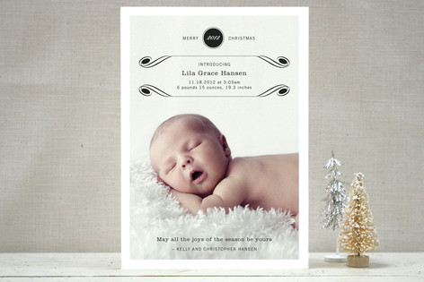 Luxe Flourish Christmas Photo Cards