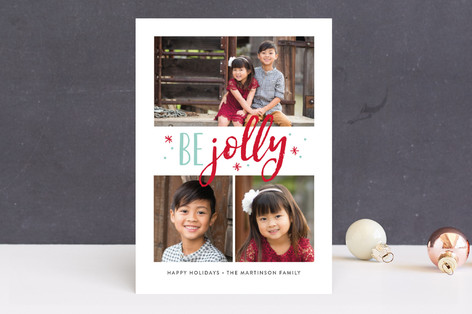 Jolly Stars Christmas Photo Cards