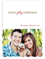 Holly Jolly Xmas Christmas Photo Cards
