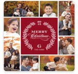 Pine Wreath Christmas Photo Cards