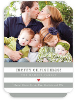 Bright Stripes Christmas Photo Cards