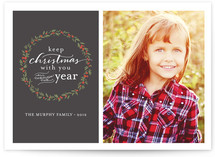 Keep Christmas with You Christmas Photo Cards