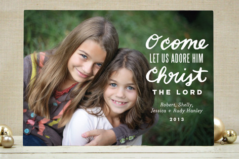 Let Us Adore Him Christmas Photo Cards