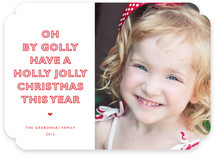 Oh By Golly Christmas Photo Cards