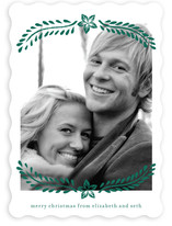 Block Printed Mistletoe Christmas Photo Cards