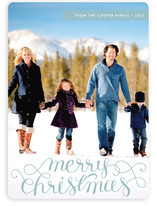 Merry Christmas Swirl Overlay Text Christmas Photo Cards