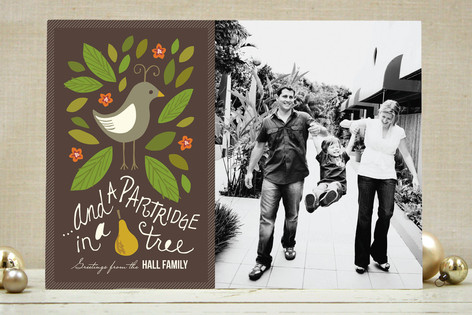 In a Pear Tree Christmas Photo Cards