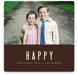 We're Happy Christmas Photo Cards