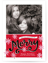 Merry Snowflakes Christmas Photo Cards