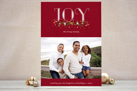Berry Christmas Christmas Photo Cards