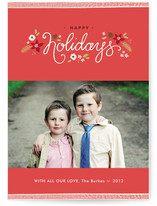 Ribbon Noel Christmas Photo Cards