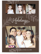Painterly Pine Christmas Photo Cards