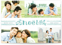 Dotted Noel Christmas Photo Cards
