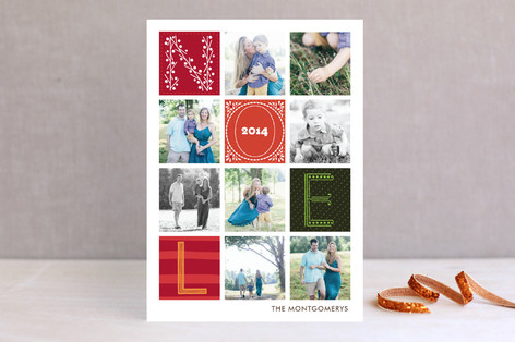 Quilted Christmas Photo Cards