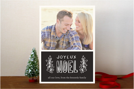 Chalk Holiday Christmas Photo Cards