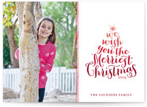 Ombre Christmas Photo Cards