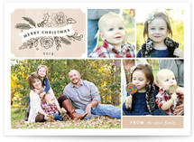 Chalkboard Label Christmas Photo Cards