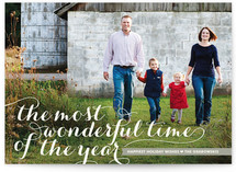 Wonderful Script Christmas Photo Cards