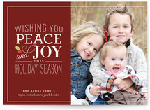 Holly Stack Christmas Photo Cards