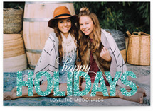 Glitter Christmas Photo Cards