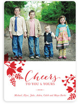 Cheerful Floral Christmas Photo Cards