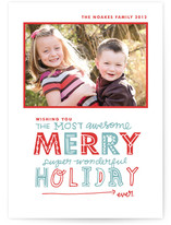 Most Awesome Super Wonderful Christmas Photo Cards