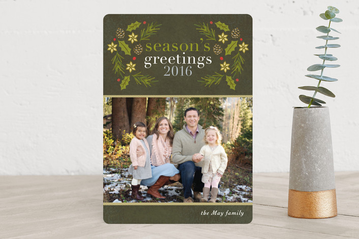 """Winter Arbor"" - Christmas Photo Cards in Forest by Griffinbell Paper Co.."