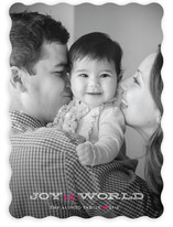 Jingle and Joy to the World Christmas Photo Cards