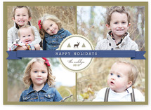 Green Ribbon Christmas Photo Cards