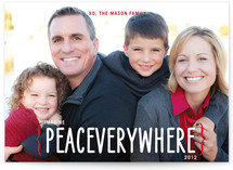 Peace Everywhere Christmas Photo Cards