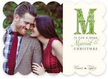 M is for Married Christmas Photo Cards