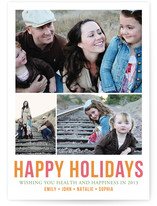 Minimal Trio Christmas Photo Cards