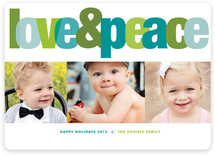 Love &amp; Peace Christmas Photo Cards
