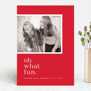 Oh So Modern Merry Christmas Photo Cards