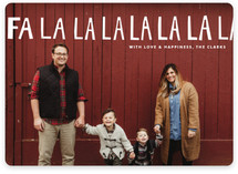 Handlettered Fa La La La La Christmas Photo Cards