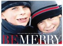Big and Merry Christmas Photo Cards