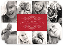 Classic Collage Christmas Photo Cards