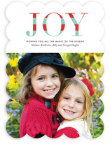 Striped Joy Christmas Photo Cards